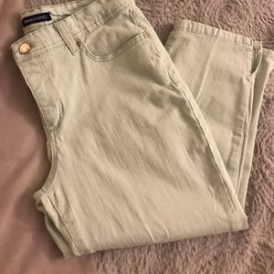 Hint of Mint Bandolino cropped jeans